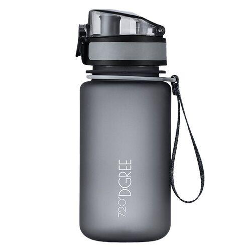 720°DGREE Trinkflasche, Trinkflasche, Wasserflasche, 350ml, Auslaufsicher, Sportflasche, für Schule, Sport, Outdoor, Wandern, Fahrrad, mit Früchtesieb, stone gray