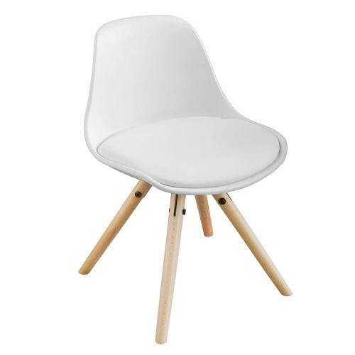 SoBuy Stuhl »FST46« Kinderstuhl Sitzhocker weiß Sitzhöhe 35cm, weiß