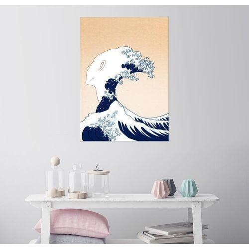 Posterlounge Wandbild, Hommage an Hokusai
