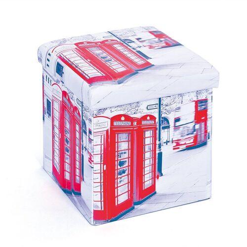 ebuy24 Aufbewahrungsbox »Sanne Aufbewahrungsbox Hocker, faltbar mit Deckel,«