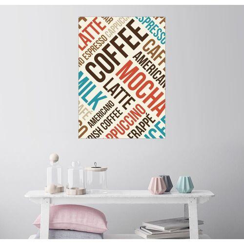 Posterlounge Wandbild, Kaffee, Latte, Mocha