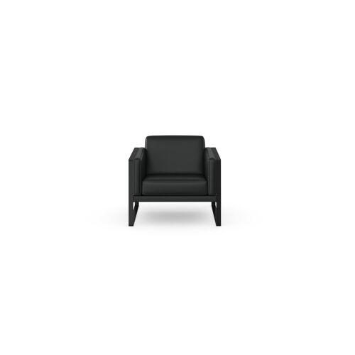 machalke® Loungesessel »frame«, Ledersessel mit Kufe in Schwarz, black SADDLE