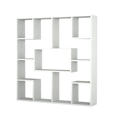 moebel17 Standregal »Bücherregal Optimist Weiß«, mit 13 Abstellflächen
