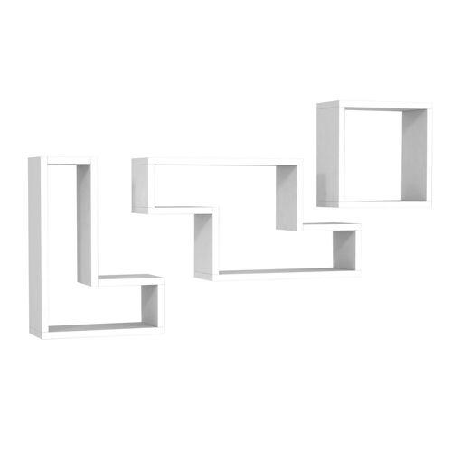 moebel17 Wandregal »Wandregal Tetris Weiß«, mit 8 Ablageflächen