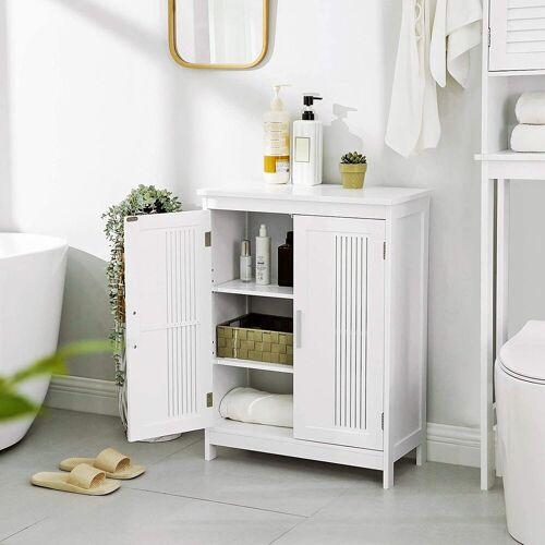 VASAGLE Badkommode »BBC52WT«, Badschrank mit 2 Türen, 60 x 30 x 80 cm, weiß