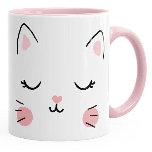 MoonWorks Tasse »Kaffee-Tasse Katze Katzengesicht Cat Teetasse Keramiktasse ®«