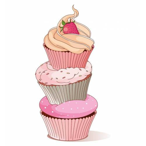 dekodino Wandtattoo »Cupcake Turm mit Erdbeere« (1 Stück)