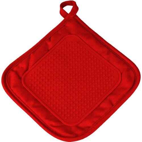 One Home Topflappen »Topflappen Basic«, (1-tlg), mit Silikon, rot