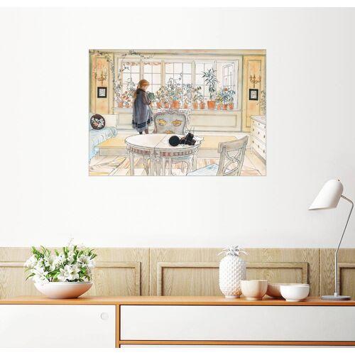 Posterlounge Wandbild, Blumen auf der Fensterbank