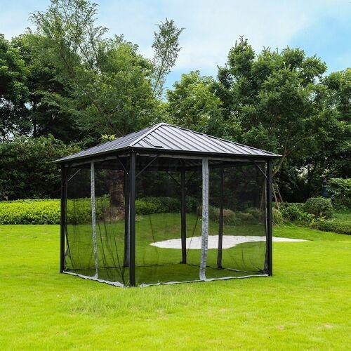 HOME DELUXE Pavillon »Azur«, Personen: 12, inkl. LED Beleuchtung & Solarpanel