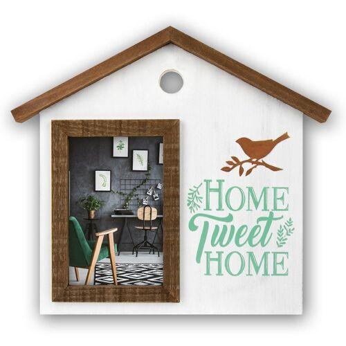 "matches21 HOME & HOBBY Bilderrahmen »Bilderrahmen / Wechselrahmen Haus ""Home tweet Home""«, (1 Stück)"