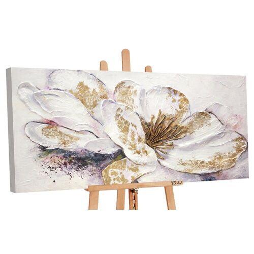 ART YS-Art Gemälde »Goldene Pfingstrose PS039«