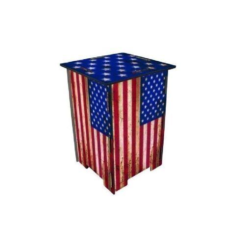 WERKHAUS® Hocker »Photo-Hocker 295 x 295 x 420 mm«, Fotohocker 141 - Flagge USA, Flagge USA