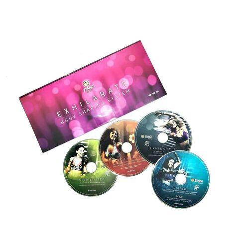 Zumba Fitness Ganzkörpertrainer »Zumba Exhilarate Body-Shaping-System, 4 DVD's Zumba Video Zumba Workout«, (3-tlg)