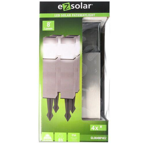 EZ SOLAR LED Gartenleuchte »4er Set LED Solar-Wegeleuchte mit bis zu 8 Lumen,«