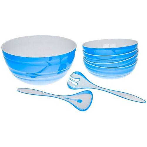 Genius Schüssel »- Salatschüssel-Set Schüssel Set 7-tlg. blau 26090«