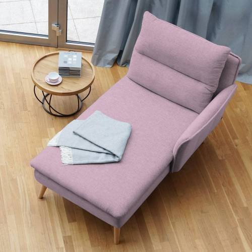 PLACE TO BE. Recamiere, Recamiere Ottomane Chaiselongue Sitzbank Polsterbank Tagesbett Daybed mit Armlehne rechts, Rosa