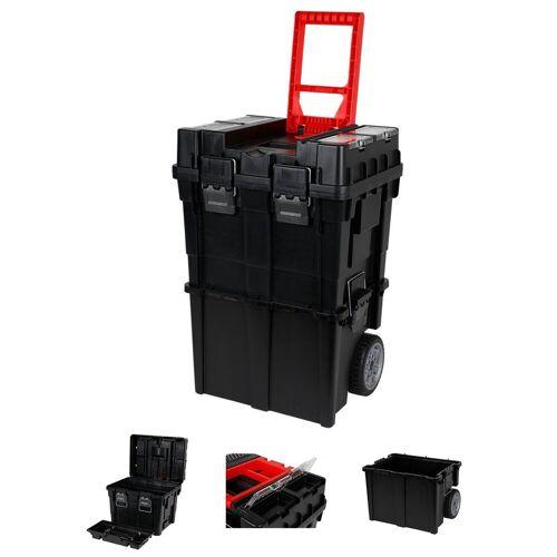 dynamic24 Werkzeugbox, XL Werkzeugkoffer mit Rollen, Werkzeugkasten, Werkzeug Trolley