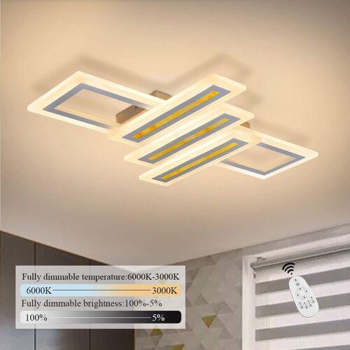 ZMH Deckenleuchte »Dimmbar Modern Deckenlampe Geometrisch Wohnzimmerlampe Designlampe mit Fernbedienung, Innen Deckenbeleuchtung für Schlafzimmer Wohnzimmer Esszimmer Arbeitszimmer«