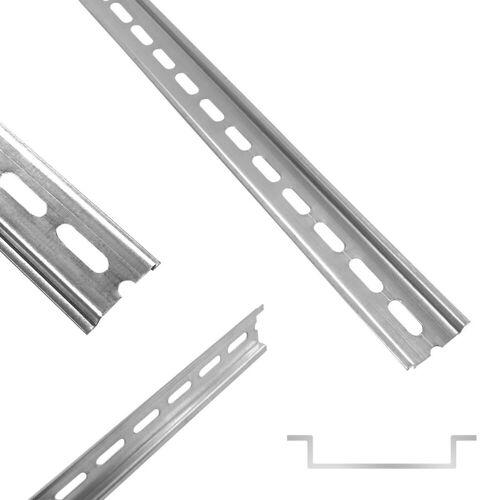 ARLI Stromschienensystem »Hutschiene 35 x 7,5 x 200 mm gelocht Stahl verzinkt für Verteilerschrank Schaltschrank Einbau DIN-Hutschiene Montageschiene Tragschiene Profilschine DIN Klemmen Schiene«, 20 Zentimeter, (10-tlg)