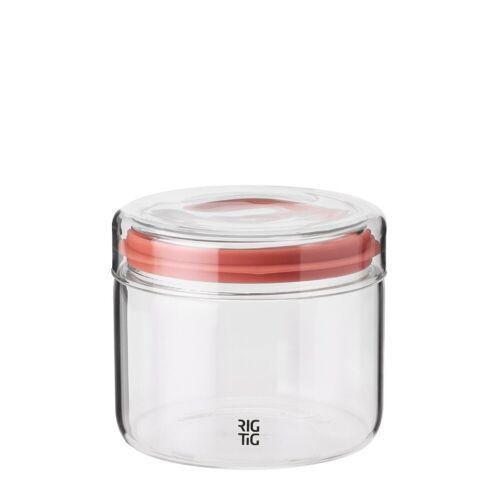 Stelton Aufbewahrungsbox »RIG-TIG Aufbewahrungsglas STORE-IT 0.5 l«, Glas, Silikon