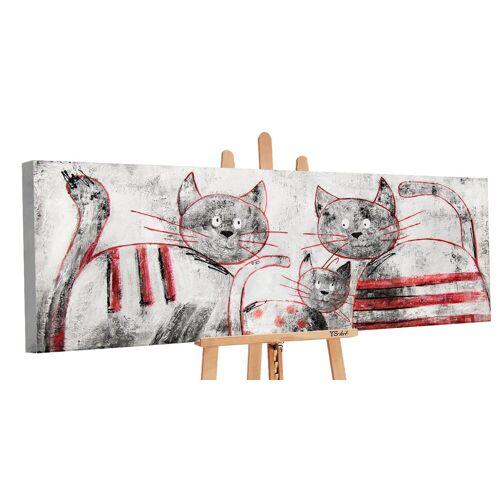 ART YS-Art Gemälde »Lustige Katzen PS086«