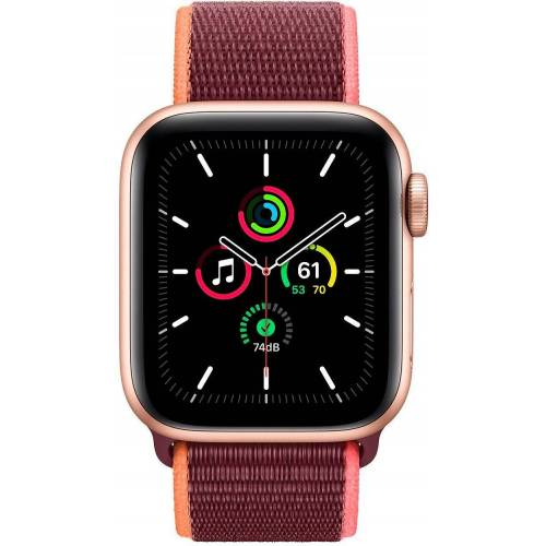 Apple SE, GPS + Cellular, OLED, Touchscreen, 32 GB, 40mm Smartwatch (Watch OS 6), pflaume   Gold/Pflaume