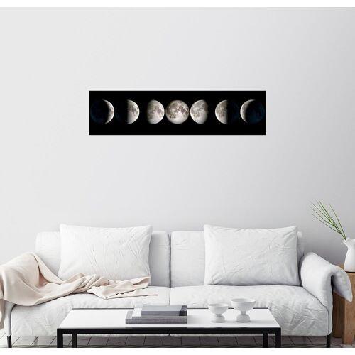 Posterlounge Wandbild, Premium-Poster Mondphasen