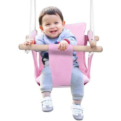 COSTWAY Babyschaukel »Baby Schaukelsitz Kinderschaukel Türrahmen Schaukel«, Pink
