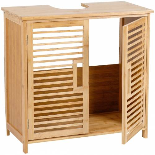 axentia Waschbeckenunterschrank »Waschbeckenunterschrank, Bambus« Maße: ca. 60 x 58 x 30 cm