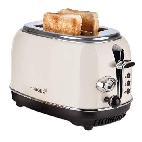 KORONA Toaster 21666, 2 Scheiben, Creme, Röstgrad- Anzeige