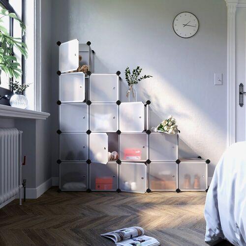 SONGMICS Kleiderschrank »LPC44BS« 16 Würfel DIY Regalsystem Kleiderschrank, weiß