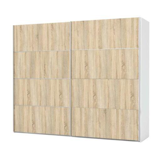 ebuy24 Kleiderschrank »Veto Kleiderschrank 2 Türen, breite 242 cm, weiss«
