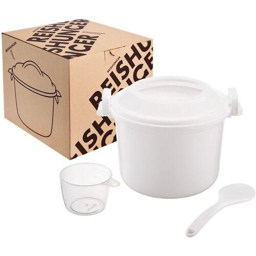 Reishunger Reiskocher Mikrowellenreiskocher, (1,2 l) einfach und schnell Reis kochen - Ideal auch für Quinoa, Couscous & Kartoffeln – Ohne Weichmacher
