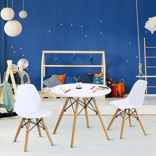 COSTWAY Kindersitzgruppe »Kindersitzgruppe«, (3-tlg), 3Tlg. Kindermöbel Kindertischgruppe Set mit Esstisch und 2 Stühlen