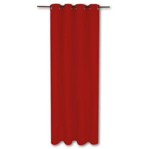 Bestlivings Gardine »Ellen«, , Ösen (1 Stück), Thermogardine, blickdicht 140x245cm, hitzeabweisend und wärmeisolierend, Rot