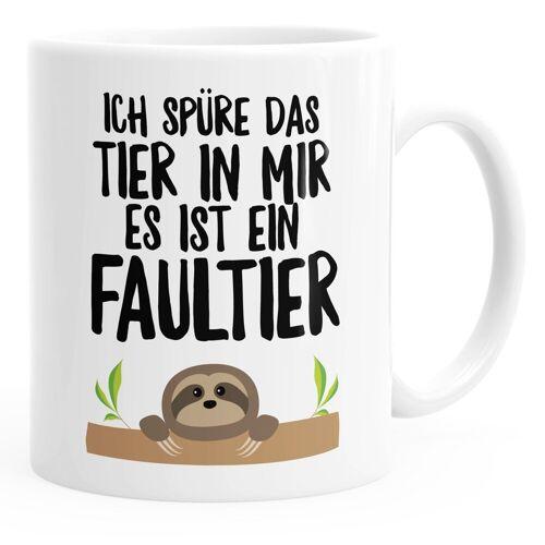 MoonWorks Tasse »Faultier Kaffee-Tasse Ich spüre das Tier in mir, es ist ein Faultier glänzend ®«