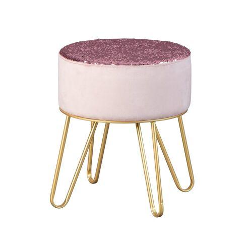 ebuy24 Pouf »Belinda Fusshocker, Hocker rosa und gold.«