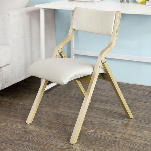 SoBuy Klappstuhl »FST40« Küchenstuhl mit gepolsterter Sitzfläche und Lehne, weiß