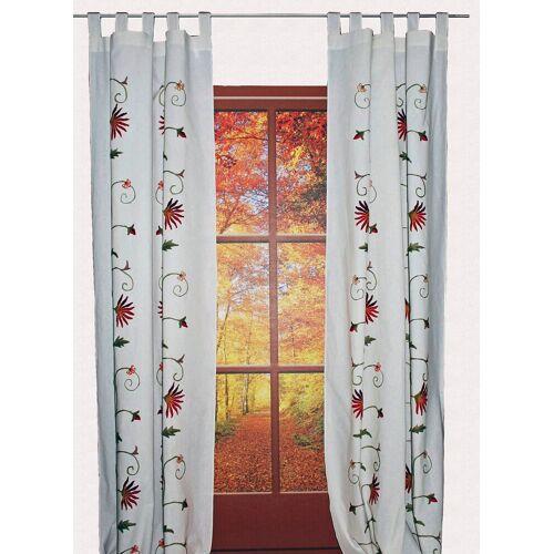 Hossner - ART OF HOME DECO Vorhang »Fuschlsee«, , Schlaufen (1 Stück), floraler Shabby-Chic