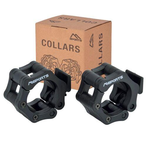 MSports® Hantel »MSPORTS Hantelverschlüsse für Olympia Hantelstange Durchmesser 50/51 mm Barbell Collar«
