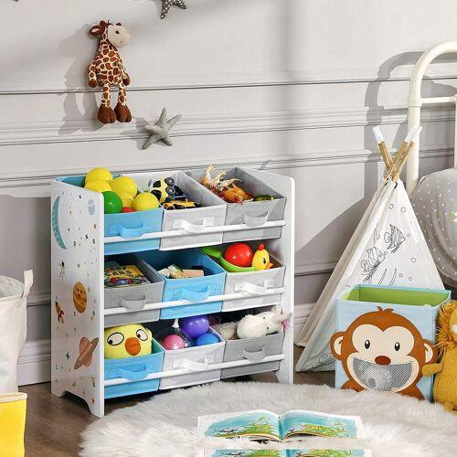 SONGMICS Aufbewahrungsbox »GKR33WT«, Kinderzimmerregal, Spielzeug-Organizer, weiß