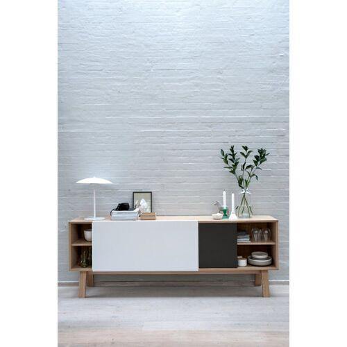 ebuy24 Sideboard »Miso Sideboard mit 2 Schiebetüren in Stahlgrau und«