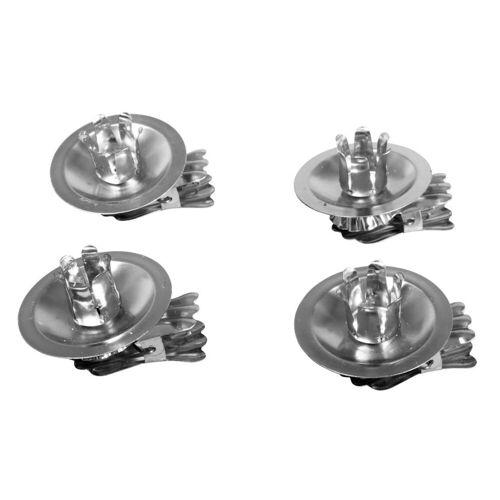 VBS Standkerzenhalter »Baumkerzenhalter«, 4 Stück, Silber