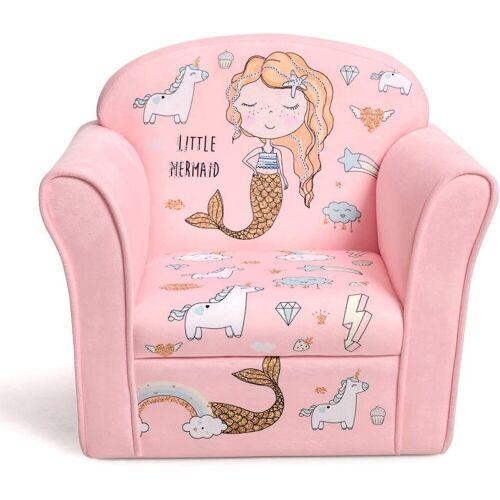 COSTWAY Sessel »Kindermöbel Schaumstoff«, Rosa