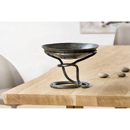 GILDE Dekoschale »Dekoschale« (1 Stück), mit Fuß, aus Metall, handgefertigt