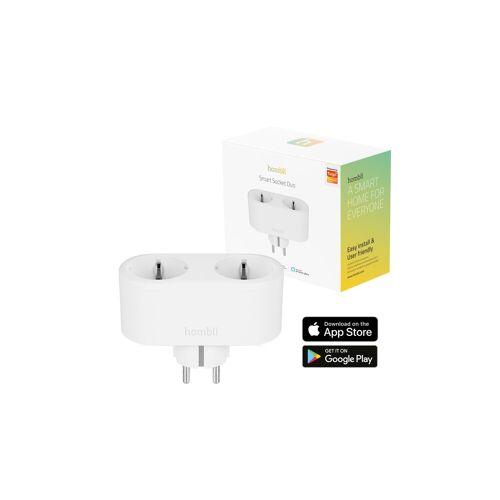 Hombli »Smart Duo-Steckdose EU« Smarte Steckdose, WLAN-Fernsteuerung, Zeitschaltuhr, Stromverbrauchanzeige, kompatibel mit Amazon Alexa und Google Home, Fernsteuerung über kostenlose App