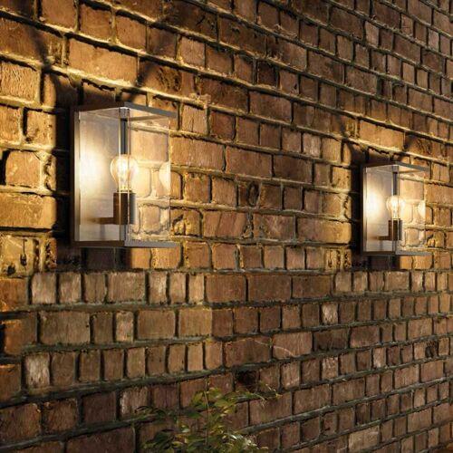 Licht-Trend Außen-Wandleuchte »Vetro W1 mit massiven Glas«