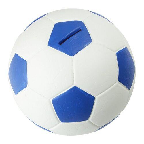HMF Spardose »4790«, Fußball in Lederoptik, 15 cm Durchmesser, blau