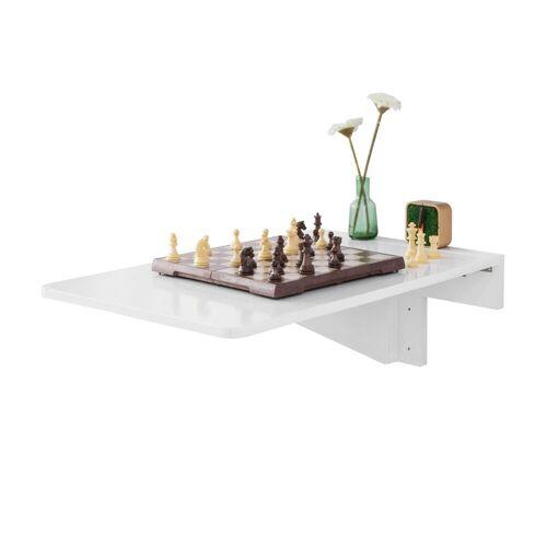 SoBuy Klapptisch »FWT04«, Wandklapptisch Küchentisch Wandtisch Esstisch Schreibtisch Weiß 70x45cm €3795